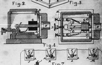 Page from Alexander G. Bell's 1877 patent, IMPROVEMENTS ON ELECTRIC TELEPHONY; 13 pages