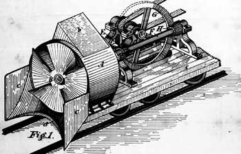 Page from Orange Jull's 1884 patent, SNOW PLOUGH; 9 pages