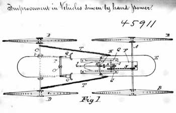 Page from William Henry Thompson and George Morris's 1894 patent, VEHICLE; 7 pages