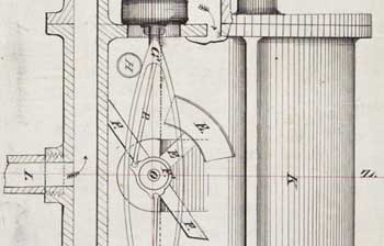 Page from W. Hamilton's 1869 patent, A MACHINE FOR MEASURING LIQUIDS; 22 pages