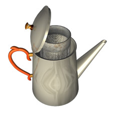 Artist's rendition of John Smith's 1890 COFFEE POT