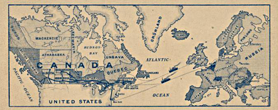 Image of a map entitled The North Atlantic Trading Company, ca. 1900