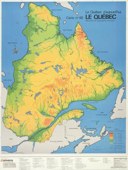 Image of a map entitled Le Quebec d�aujourd�hui, 1985