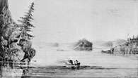 Fort Chipewyan, Lake Athabasca, Alberta, Sir George Back (1796-1878), ca. 1832