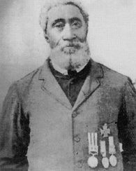 Photo of William Hall, born in 1825 in Summerville, Nova Scotia received the Victoria Cross, the highest British military award for bravery