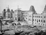 Photo des édifices du Parlement en construction, août ou septembre 1863