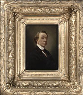 Painting of John�A.�Macdonald in heavy gilt frame, by an unknown artist, ca.�1868�1870