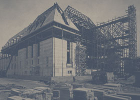 Photograph of the Supreme Court building under construction, Ottawa, August 11, 1939