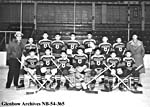 Photograph of the St. Paul Residential School hockey club, Lethbridge, Alberta