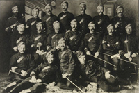 Photograph of group of sergeants, NWMP Headquarters, Regina, 1890