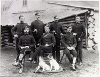 Photograph of some of the men of the Banff Detachment, Banff, Alberta, October 28, 1891