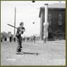 Women munitions workers play a game of baseball at the John Inglis Co. Bren gun plant