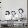 The Perry sisters, French-Canadian women workers of the Dominion Arsenals Ltd. plant, enjoy a day off in their home town