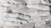 Detail of BETWEEN HANDS by Karen Trask