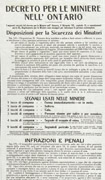 Broadside printed in black on white paper with text in different sizes and fonts in Italian. Title at top