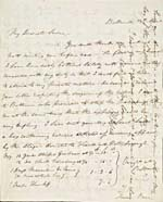 Letter from John Moodie to Susanna Moodie dated 24 April, 1839