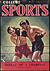Cover of pulp magazine, COLLEGES SPORTS, volume 1, number 2 (March 1942)