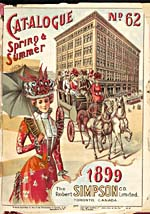Cover of catalogue, Simpson's Spring and Summer 1899