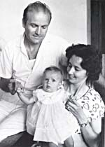 Photograph of Piero Corti, Lucille Teasdale and baby daughter Dominique