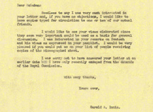Letter from Harold Innis to Marshall McLuhan, February 26, 1951