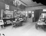 Photograph of the public reception area of the Topley Studio, probably 104 Sparks Street, Ottawa, between 1878 and 1888