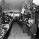 Photograph of the interior of a store, Ottawa, date unknown