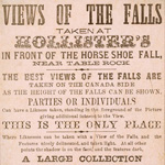 Advertisement for Hollister's photographic studio, Niagara Falls, Ontario, 1865