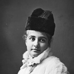 Photograph of a young woman, Lady Wilson, in a fur coat and hat, date unknown
