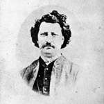 Photograph of Louis Riel taken after his election as Member of Parliament for Provencher, Manitoba, 1873