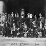 Photograph of Canadian Press Photographers, unknown location, unknown date