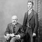 Photograph, taken in a studio, of two unidentified men, St. Catharines, Ontario, circa 1865-1870